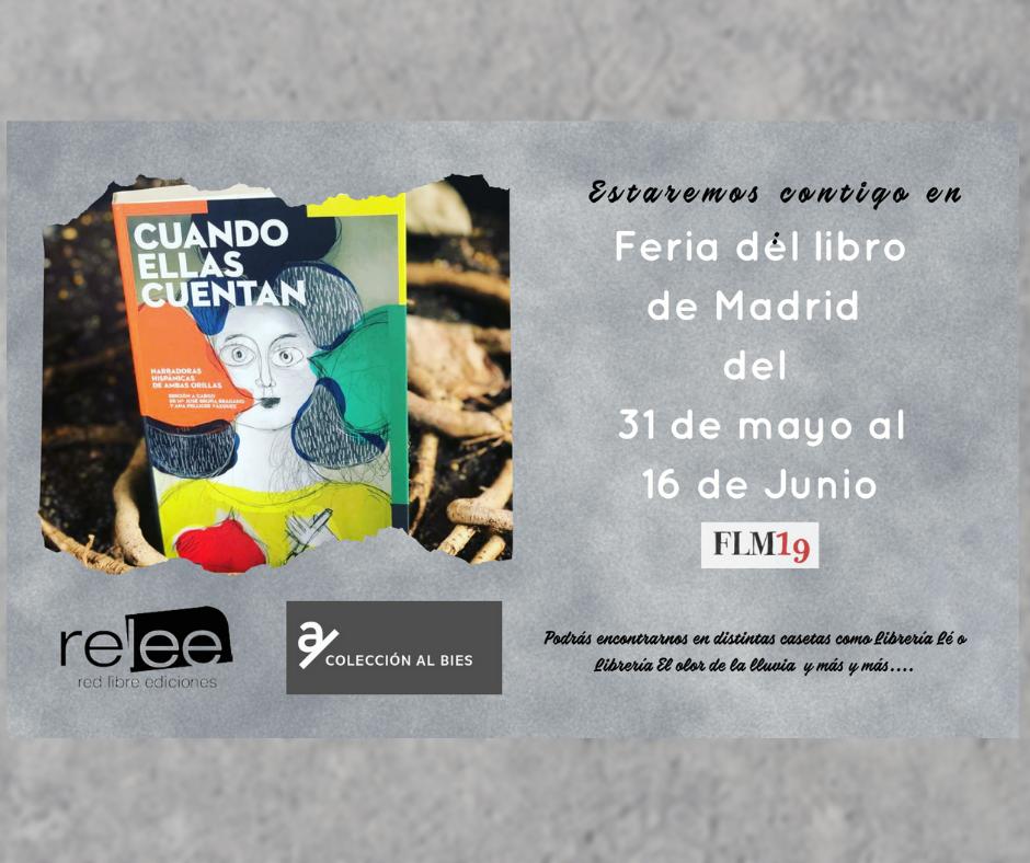 Casetas de la Feria del libro de Madrid para Cuando ellas Cuentan